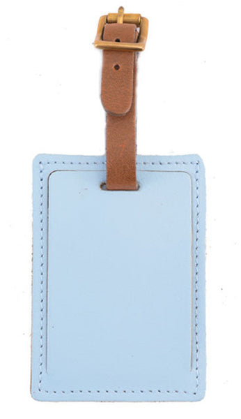 luggage tag Pvc Silicone Travel Tag Labels Card Sky Blue