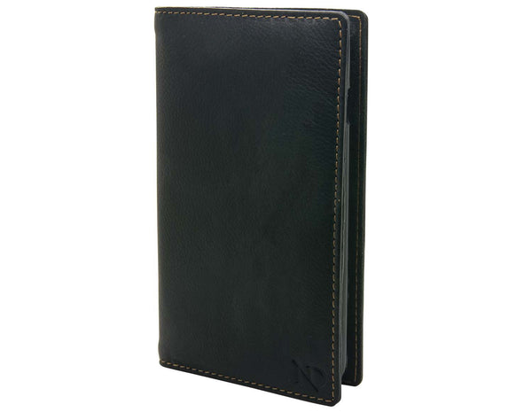 Black Leather iPhone 6+ Card Case