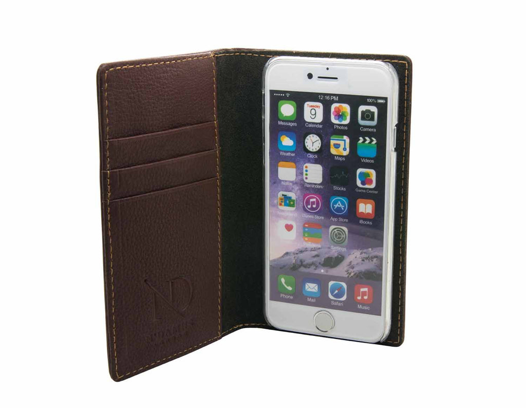 Brown Leather iPhone 6 Card Case