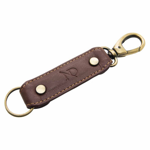 Brown Leather Trigger Loop Keyring