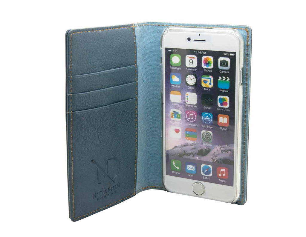 Grey Leather iPhone 6 Card Case