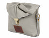 Emily Rose Mini Grey Leather Crossbody Bag