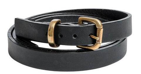 Black Belt With Gold Buckle