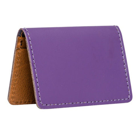 Plum Ranger Purple Card holders 100% leather
