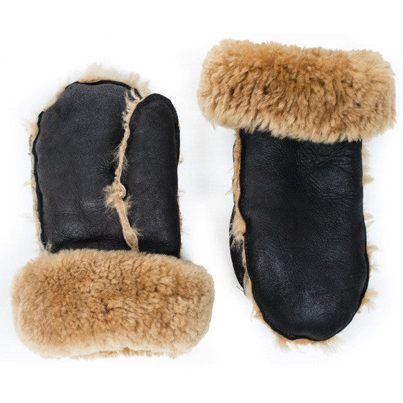 Hands Warm Shearling Mittens