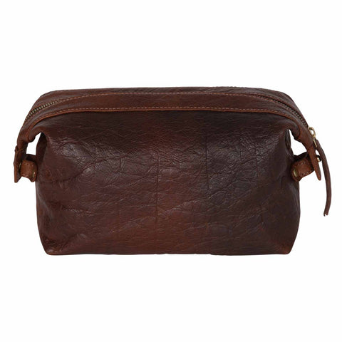 Sloane Cognac Toiletry Case