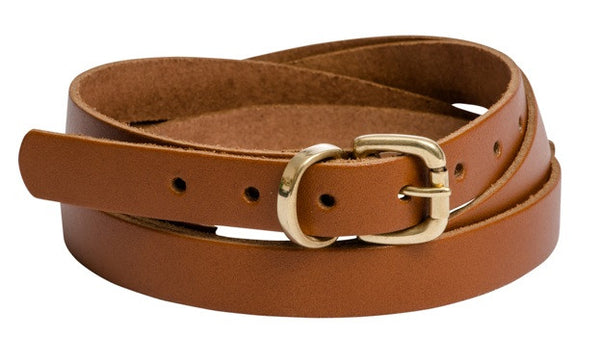 Red Brown Belt Gold Buckle