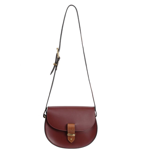 Victoria Oxblood Saddle Bag