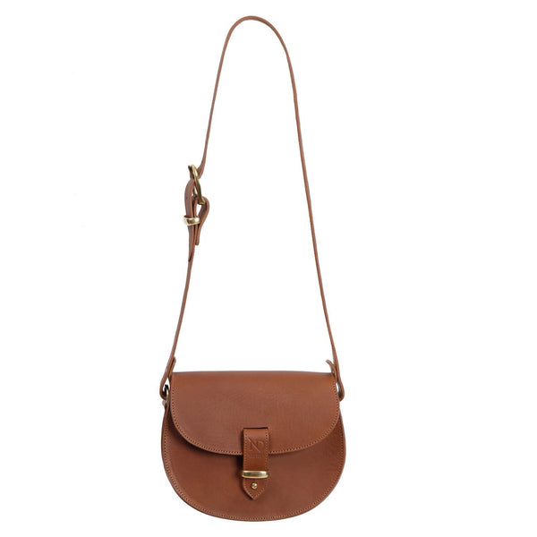Victoria Tan Saddle Bag