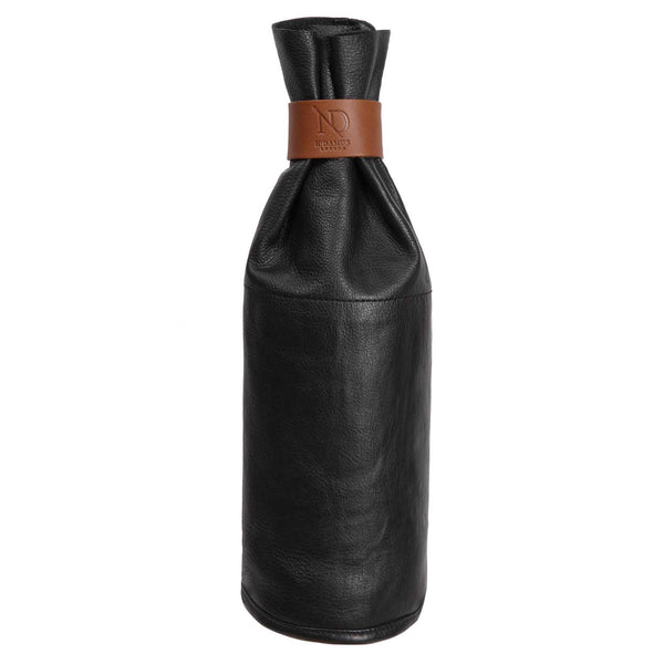 Black Leather Wine Sleeve