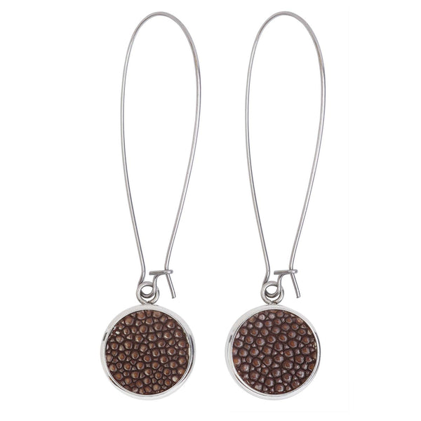 Silverdale-Sting Brown Drop Earrings