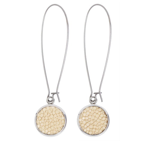 Silverdale-Sting Cream Drop Earrings