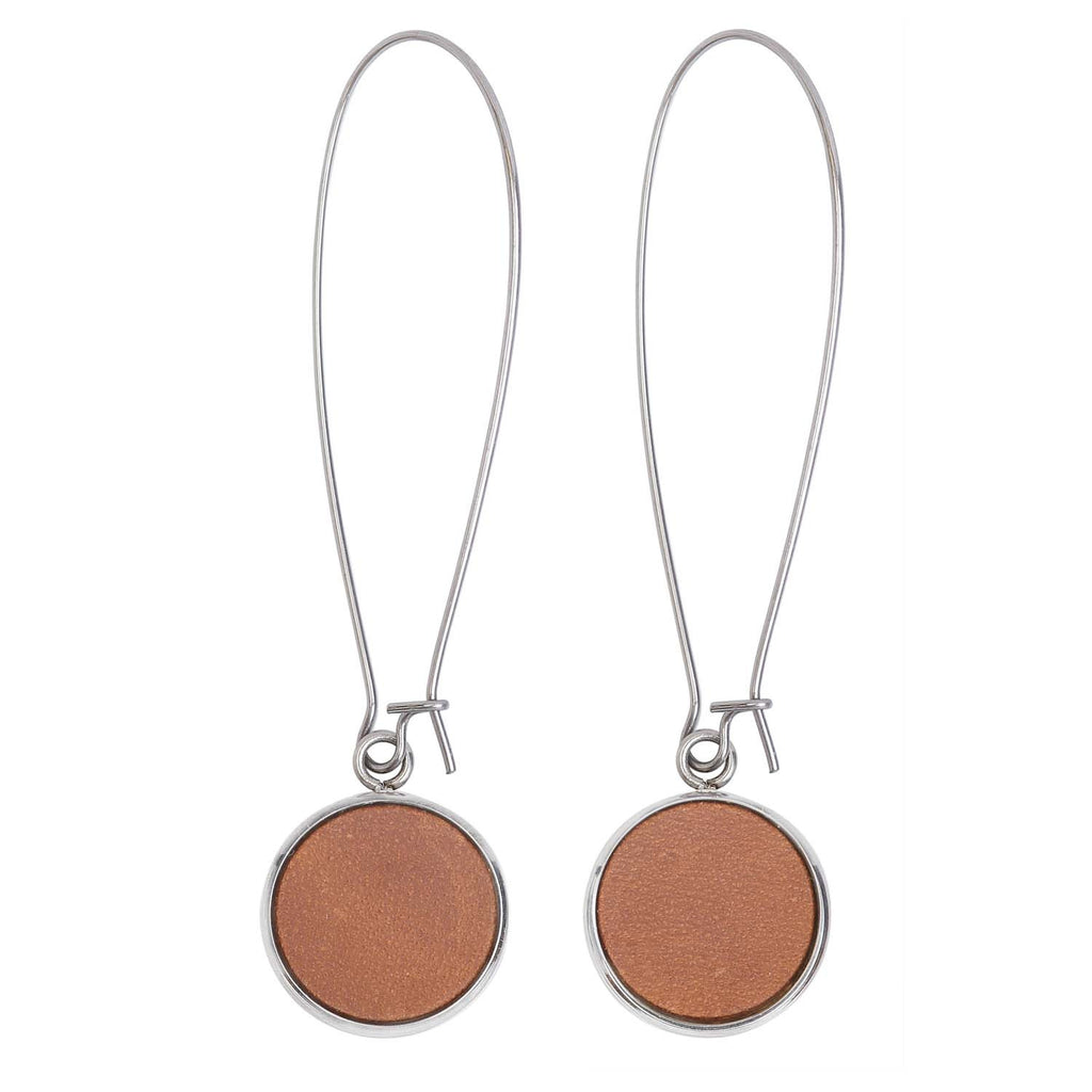 Silverdale Tan Drop Earrings