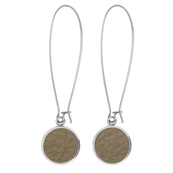 Silverdale Olive Drop Earrings