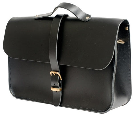 Midnight briefcase & satchel 100% leather
