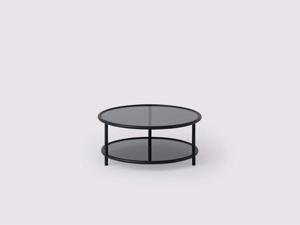 Tubular Round Coffee Table - Black