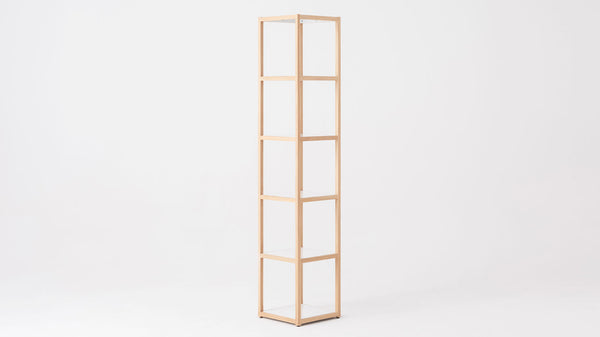 Grow Tall Square Shelf - Oak/White