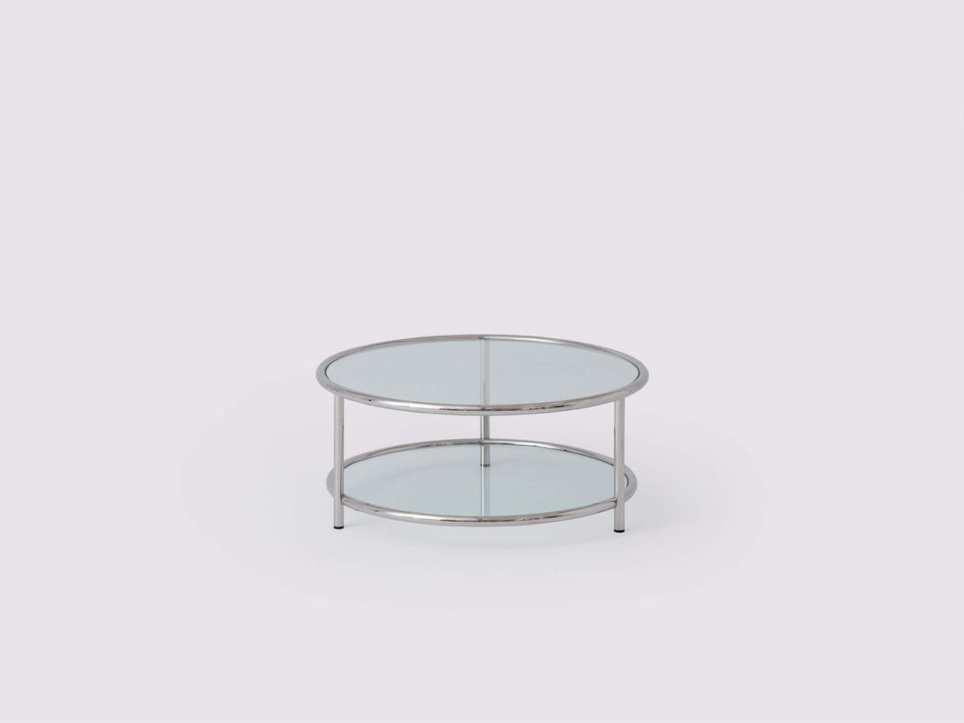 Tubular Round Coffee Table - Stainless Steel