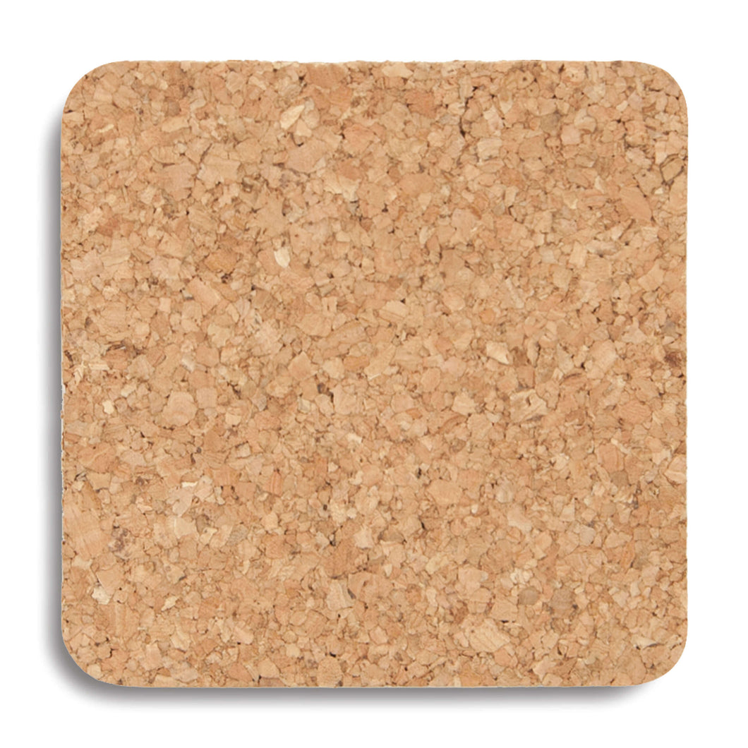 Cork Square Coasters - Set of 6