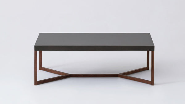 Trivia Coffee Table - Charcoal/Walnut