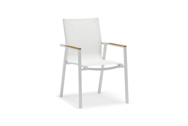 Ella Dining Chair White/Taupe 170201 EL 15