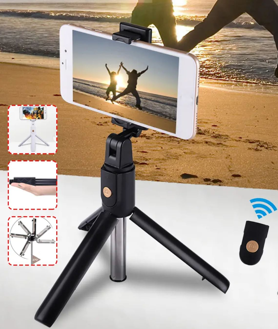 ShootSteady™ Bluetooth Phone Tripod Mount - 100 Gizmos