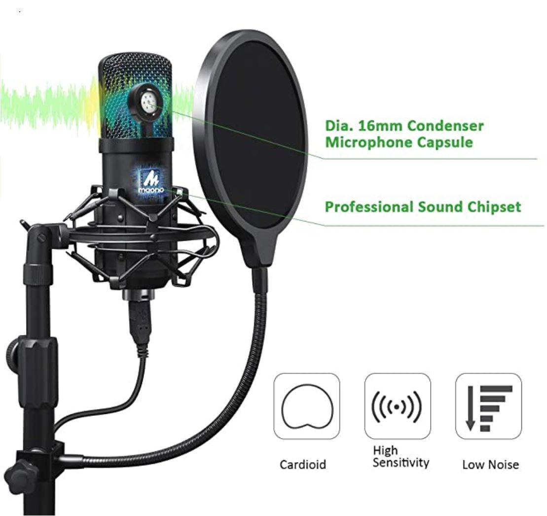 Maono™ USB Podcast Microphone / Streaming Microphone - 100 Gizmos
