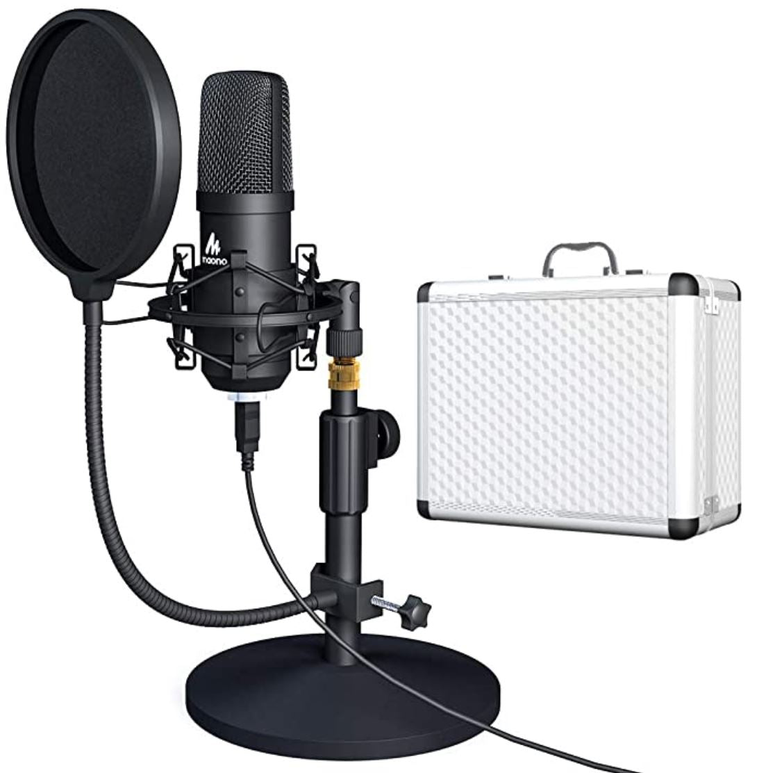 Maono™ USB Microphone With Case - Streaming / Singing / Rapping