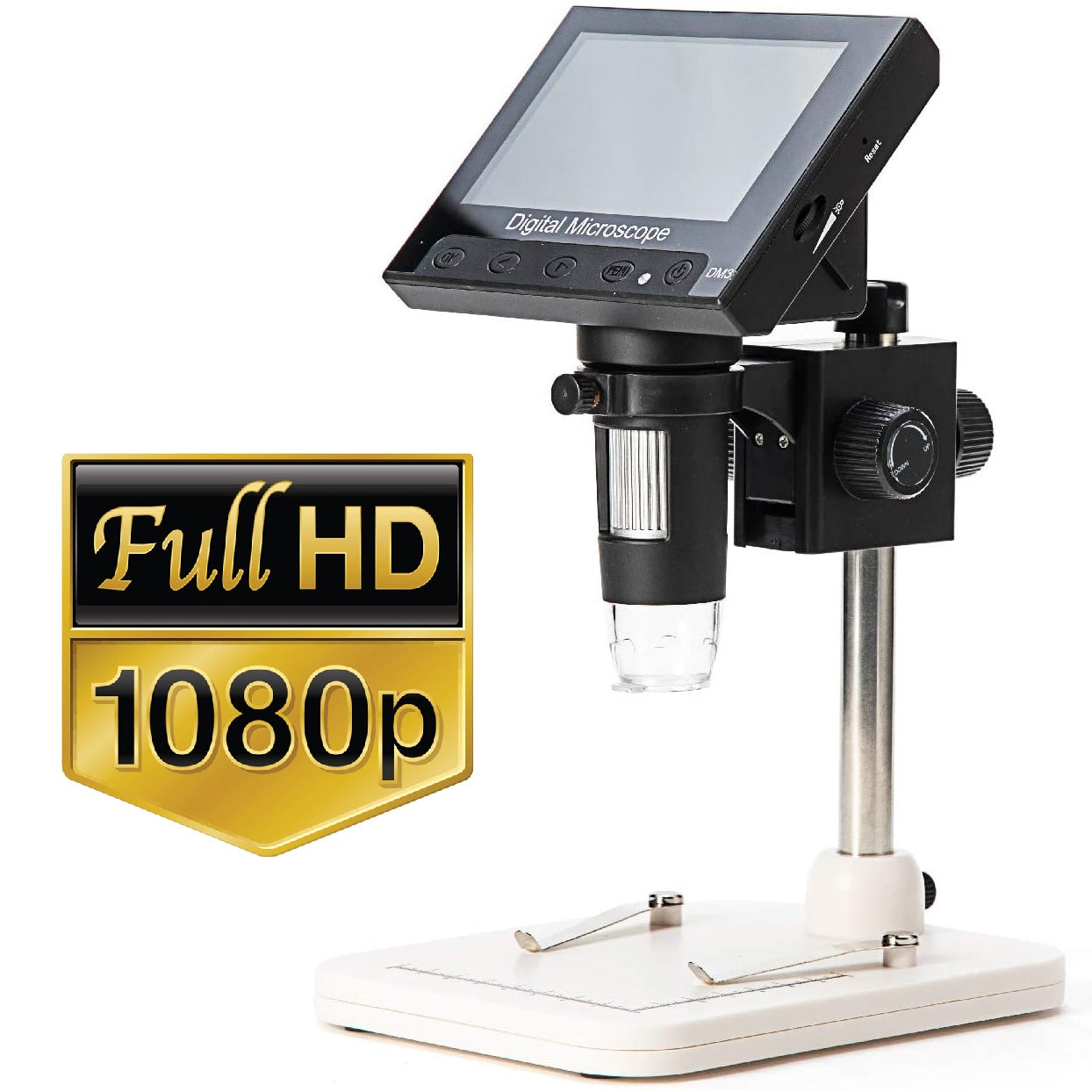HyperClear™ 1000x 2MP HD 1080p Digital Microscope Camera with 4.3