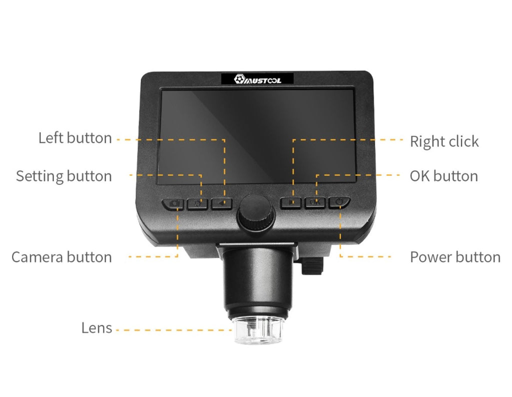 HyperClear™ 1000x HD USB Microscope / Digital Microscope Camera - 100 Gizmos