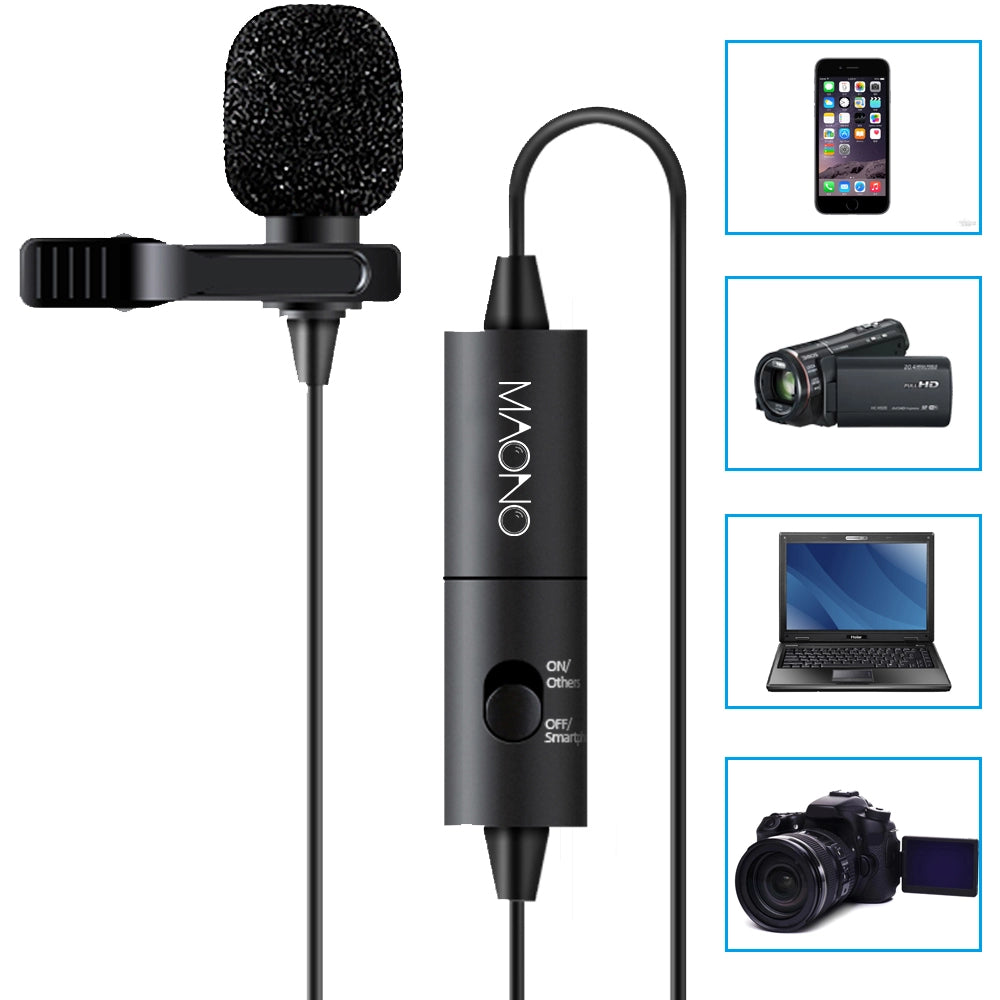 Maono Lavalier Lapel Microphone with Pre-Amp