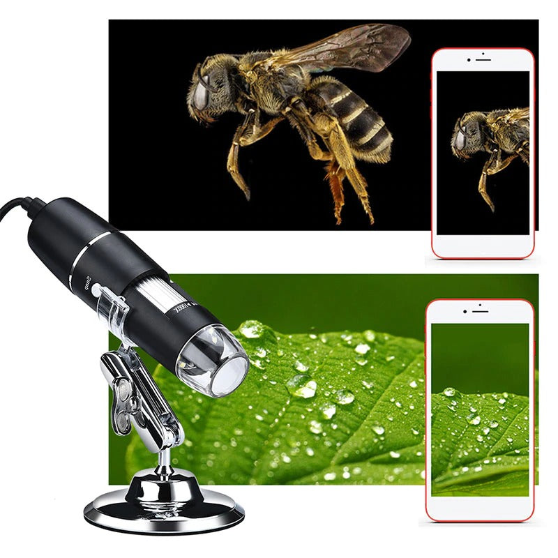 HyperClear™ 1600x USB Microscope / Digital Microscope Camera - 100 Gizmos