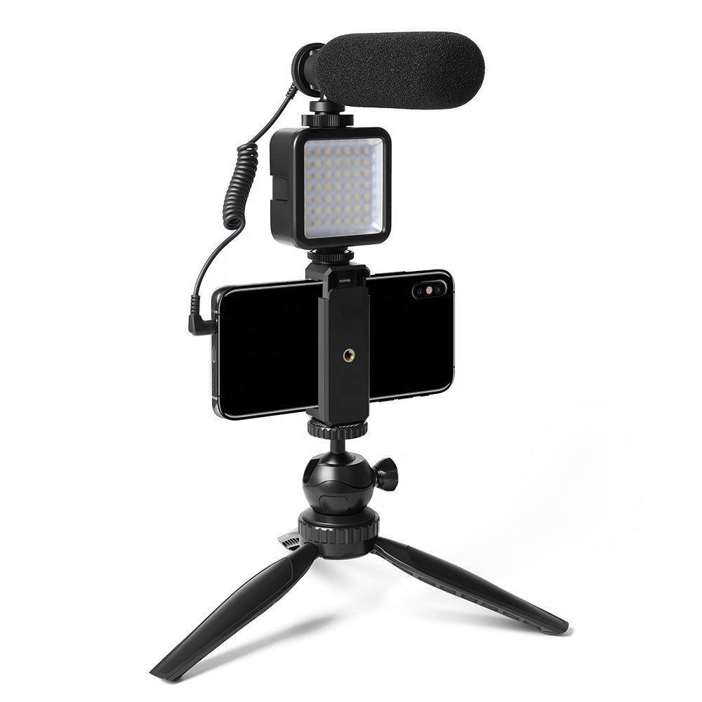 Maono Smartphone Podcast Microphone / Streaming Microphone with Lamp