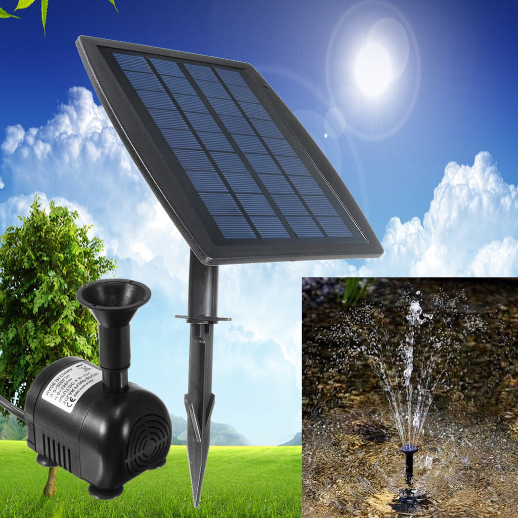 2.5W Solar Panel Floating Fountain Solar Water Pump Kit Waterfall Outdoor Water Bird Bath - 100 Gizmos