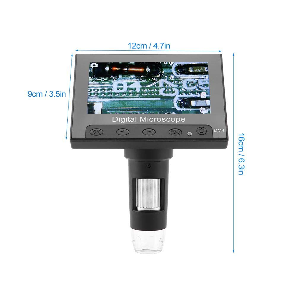 "HyperClear™ 1000x 720p Digital Microscope Camera with 4.3"" Screen"