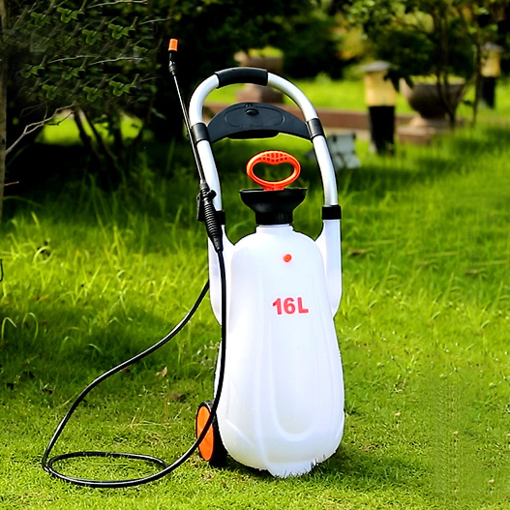 12L/16L Garden Weed Handcart Sprayer Multifunction Farm Watering Chemical Killer - 100 Gizmos