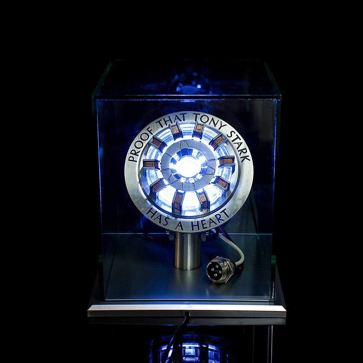 Iron Man Tony Stark's Arc Reactor MK II LED Lamp With Display Stand Cover