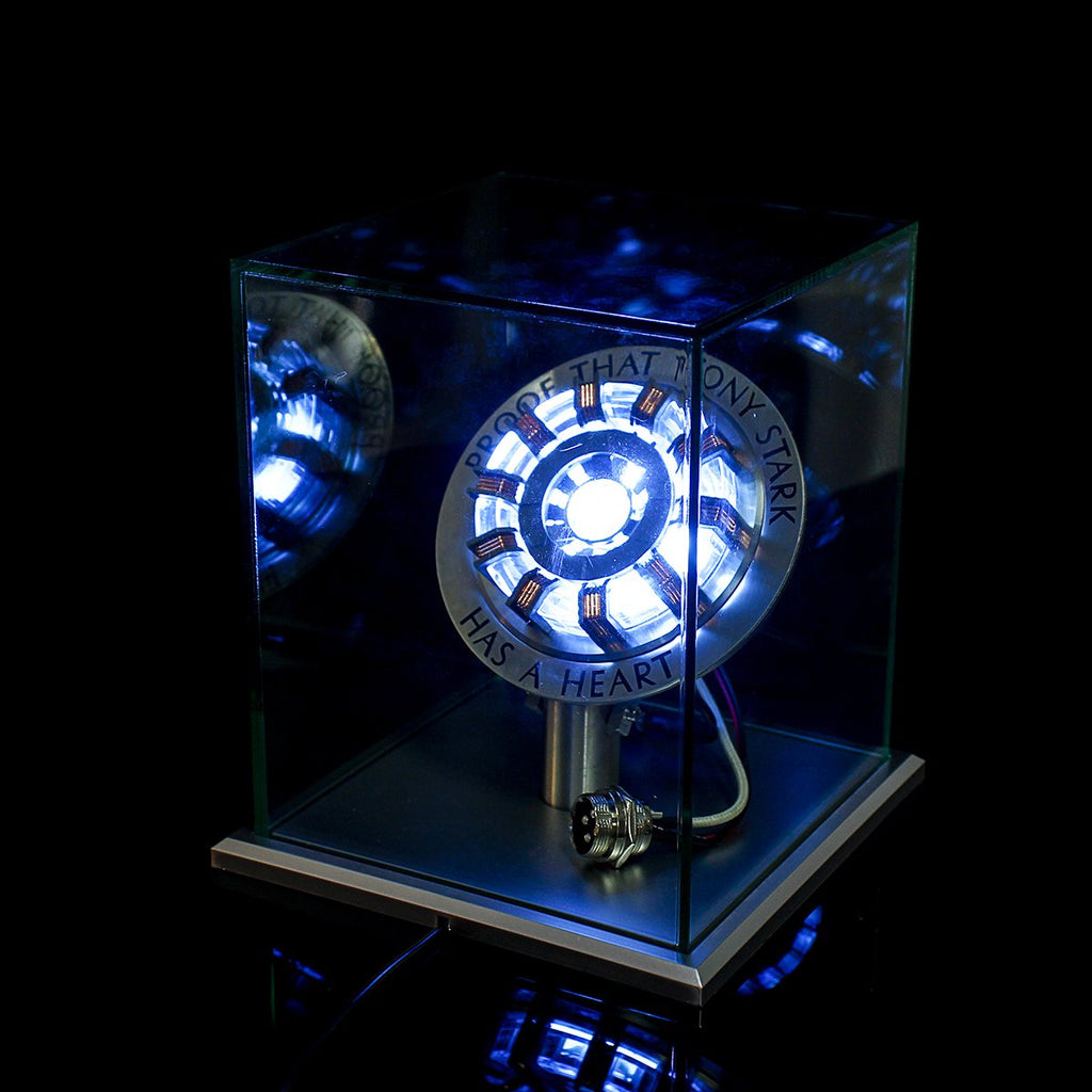 Iron Man Tony Stark's Arc Reactor MK II LED Lamp With Display Stand Cover - 100 Gizmos