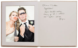 "8x10"" Guestbook - Five Photo Frame Mats + Five Blank Sides for messages."