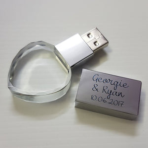 Glass Heart USB