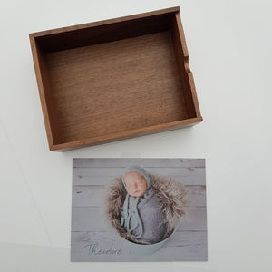 "8x10"" walnut wooden memory box (formerly the 6x8"" box - we UPSIZED it)"