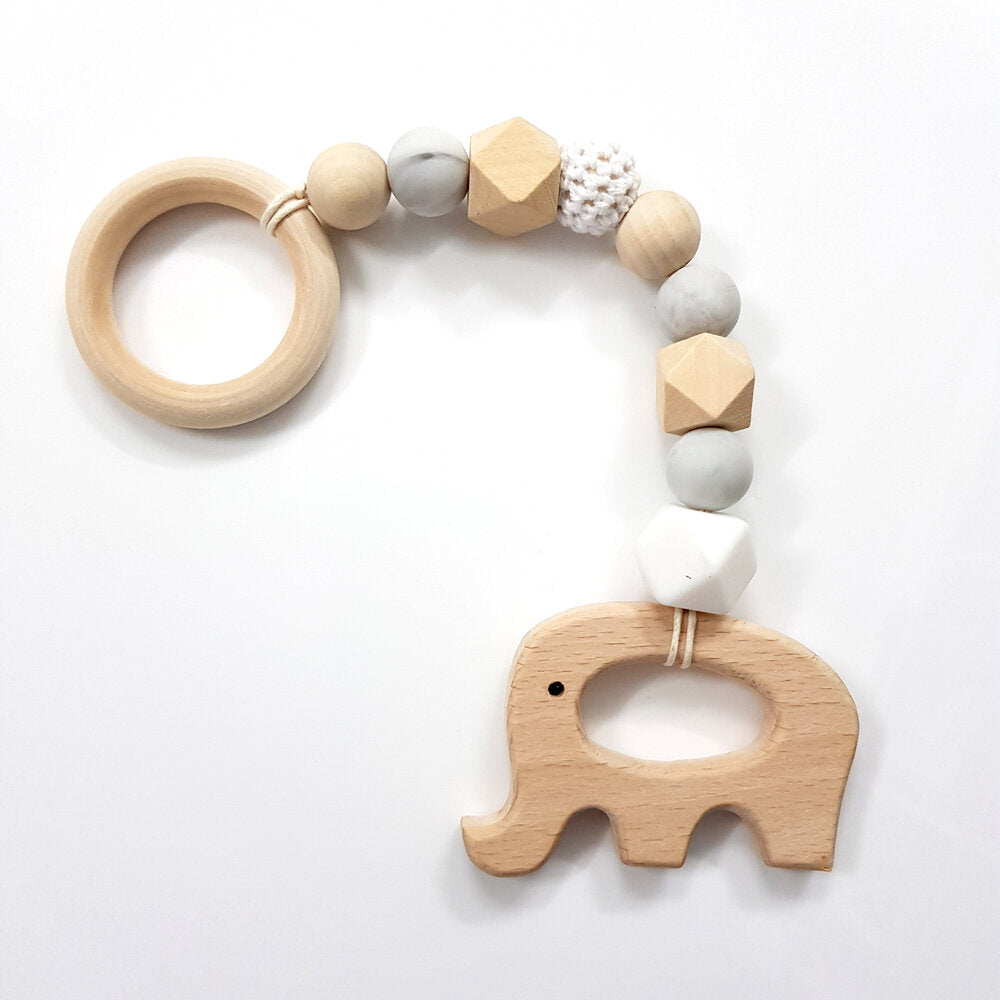 Animal Teethers - Silicone Beads & Beechwood