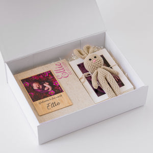 White Box Set 2: 10 Photo Album, Bamboo Print, Bunny and Five Mounts