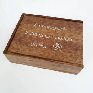 "Personalised Christmas 8x10"" wooden gift box"