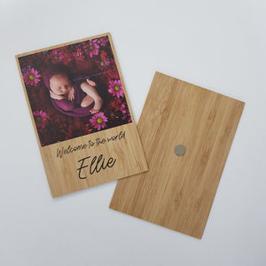 Wooden Box Set 42:  Wooden Box, 2 Photo Display Frame, Bunny, Bamboo Print & 5 Mounts.