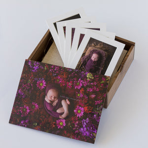 Wooden Box Set 26:  Wooden Box, 10 Photo Album & 5 Mounts.