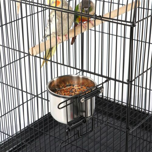 "55"" Triple Roof Top Large Bird Cage for Parrot Cockatiel Parakeet"