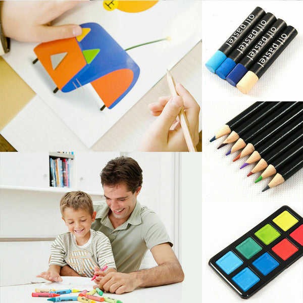 80-Piece Deluxe Art Set Drawing & painting w/ Case & Accessories Gift