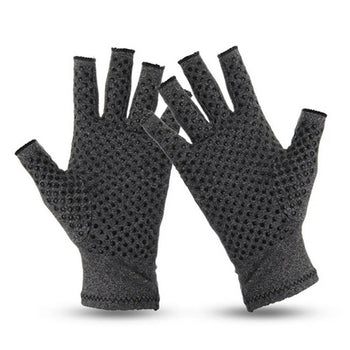 Pair Anti Arthritis Gloves Ease Pain Relief Compression Hand Support