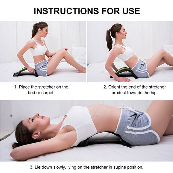 Height Adjustable Magic Back Stretcher Lumbar Pain Acupuncture Relief